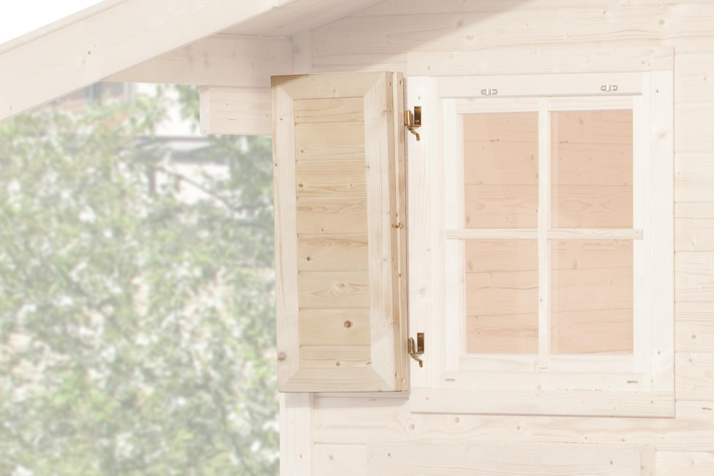 weka Fensterladen 1-seitig für Fenster 69x79cm